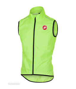 Castelli SQUADRA Vest Lightweight Windproof Cycling Wind/Rain Vest : YELLOW FLUO