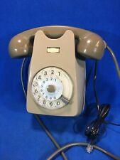 Telefono vintage a disco da parete marca SIEMENS colore grigio su grigio