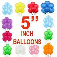"""100 Quality Standard Finish 5"""" Small Round Latex Balloon Choose 19 Colour baloon"""