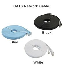 RJ45 CAT6 Ethernet Network LAN Cable Cord Flat UTP Patch Router Modem 50FT 100FT