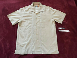 Quiksilver Men's TAN Button up shirt Size M - MEDIUM - NWOT