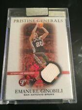 EMANUEL GINOBILI 2003 04 TOPPS PRISTINE GENERALS REFRACTOR /25 JERSEY #PG-EG