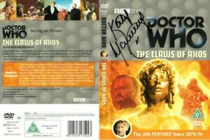 Doctor Who: THE CLAWS OF AXOS DVD Cover Signed by Katy Manning