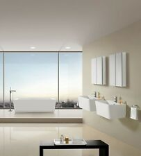 "Bathroom Pedestal Sink - Single Pedestal Sink - Modern Sink - Palmiro - 24.8"""
