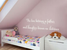 'Father and Daughter' Family Love Quote, Wall Art Sticker, Modern Transfer, PVC