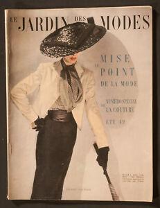 'LE JARDIN DES MODES' FRENCH MAGAZINE SUMMER COUTURE COLLECTIONS APRIL 1949