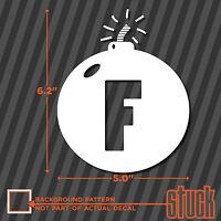 """Fused F Bomb - 5"""" x 6.2"""" - vinyl decal sticker f#ck funny swear word jeep honda"""