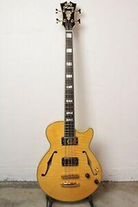 D'Angelico Excel Bass Semi-Hollow Bass Guitar - Natural Tint