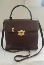 VINTAGE GOLD PFEIL BROWN LEATHER MESSENGER BAG