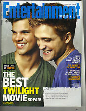 ROBERT PATTINSON TAYLOR LAUTNER Entertainment Weekly 7/2/10 TWILIGHT