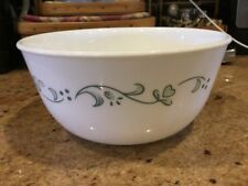 Corelle Vitrelle Country Cottage Green Hearts Deep Rice Cereal Soup Bowl a GUC