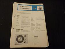Original Service Manual Telefunken S 205