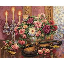 """Dimensions Gold Collection Counted Cross Stitch Kit Romantic Floral 13""""X16"""" NEW"""