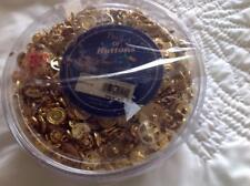 Bucket of Gold Vintage Buttons by Hirschberg Schutz 10oz. Mixed Variety
