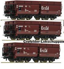 Roco 67148 3-er Set Erzwagen DB Ep IV Auf Wunsch Achstausch für Märklin gratis