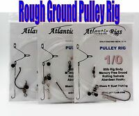 5 X ROUGH GROUND PULLEY RIGS BASS COD LONG DISTANCE CLIP DOWN SEA FISHING TRACES