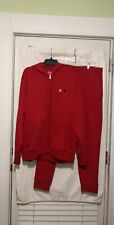 POLO RALPH LAUREN PERFORMANCE RED HOODIE SWEATSHIRT/SWEATPANTS SWEATSUIT SZ. XL