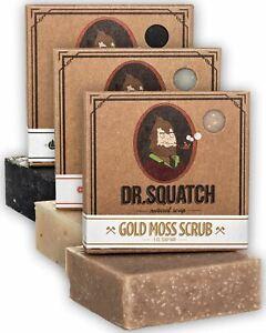 Dr. Squatch Men's Soap Variety Pack – Manly Scent Bar Soaps: Pine Tar, Cedar Cit