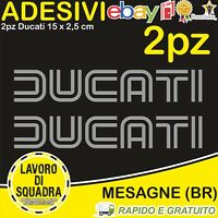 2 Adesivi Stickers DUCATI OLD panigale 848 1098 999 749 916 998 748 996 ARGENTO