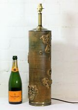 Table Lamp Antique English Wallpaper Roller Vintage Solid Wood Lamp Conversion 2