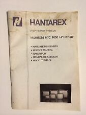 Hanterex  MTC 9000 Monitor Chassis  ArcadeGame Owners Operation Manual