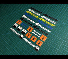 SPOON SPORTS TYPE ONE HONDA Mugen JDM DRIFT Car interior/Window Decal Sticker
