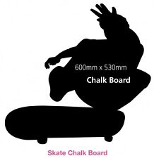 Kids Skate Board Chalk Board Black Board Reusable Sticker Decal