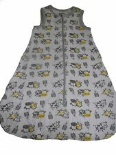 NEU Lupilu toller Baby Schlafsack 70 cm weiß-grau-gelb mit Tiermotiven !!