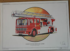 CORGI DON Fuller stampa Cardiff City Fire AEC Ladder LIMITED Issue n. 294