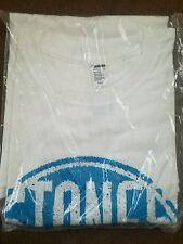 Stones Throw Blue Logo / White Shirt Size XL