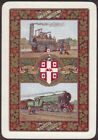 Playing Cards Single Card Old Wide 1925 WORSHIPFUL Co. RAILWAY CENTENARY Train A
