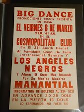 Boxing Style Poster - Los Angeles Negros & Manantial 1970S