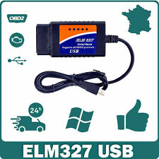 Interface ELM 327 OBD2 USB V1.5 Diagnostic Multi-marques & logiciel en Français