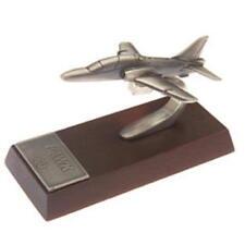 Hawk Desk Model - Solid Pewter - Wooden Base