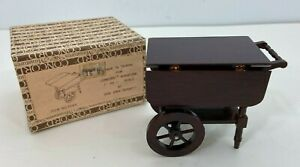 VTG Concord Dollhouse Miniatures Tea Beverage Cart Table #3049 FREE SHIPPING
