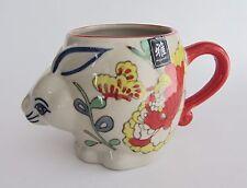 3 x Colorful Yokohama Studio Miyabi Hand Painted 3D Coffee Mug Cup Rabbit Bunny