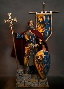 "12"" CUSTOM EMPEROR CHARLEMAGNE  KING OF THE FRANKS & LOMBARDS 1/6 FIGURE IGNITE"