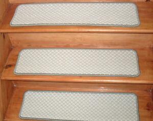 13 Step 9'' x 30'' + 1 Landing 30'' x 30'' Woven Wool Blend carpet Stair Treads.