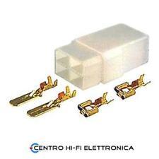 Kit Blocchetto con Faston Connettore 2 Poli completo Maschio + Femmina