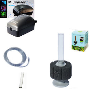 AAP Hydro Sponge Filter 1, Aquarium Filter/Air Pump COMBINATION, includes tubing