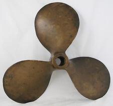 """Antique Bronze  Propeller vintage nautical  boat propeller  16"""" Columbian Bronze"""