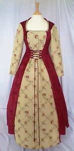 Medieval Wedding Dress Renaissance Gown Pagan Costume Gothic Custom made to size