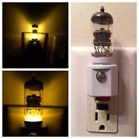 12AX7 Style Vacuum Tube Yellow LED Night Light Ham Radio TV Guitar Amplifier