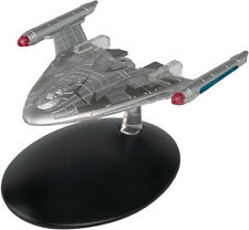 #82 Star Trek Earth Starfleet Warp Delta Die Cast Metal Ship-UK/Eaglemoss w Mag