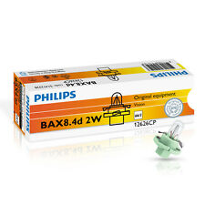 Philips Bax bx8.4d 2w 12v vert/green 10 pièces Instruments éclairage 12626cp