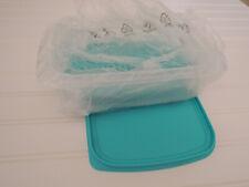 Tupperware Fridge Stackables Family Set 3 pc Aqua NEW