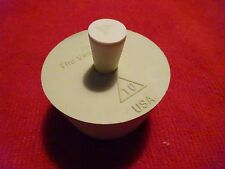 RUBBER BUNG #10 CORK FOR BETTER BOTTLE DRILLED FOR AIRLOCK w/#000 PLUG STOPPER