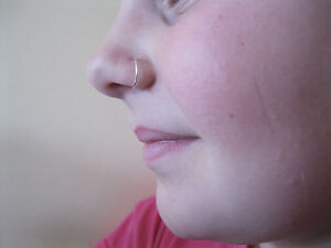 Silver 11 mm  20g  Endless Hoop Nose Ring  Earring