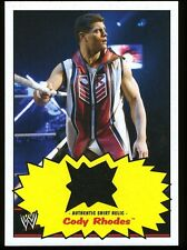 CODY RHODES ~ 2012 Topps WWE Heritage Authentic Shirt Relic Card