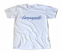 Vintage Campagnolo Blue Script Logo T-Shirt - Cycling
